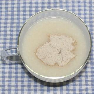 花粉症対策☆簡単☆レンコンパウダーで甘酒