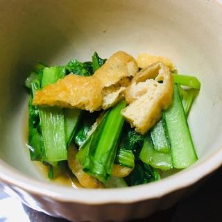 麺つゆとレンジで簡単☆小松菜と油揚げの煮びたし