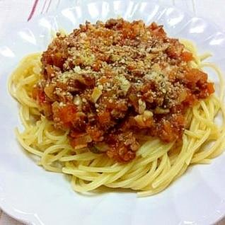我が家の★ミートソーススパゲティ