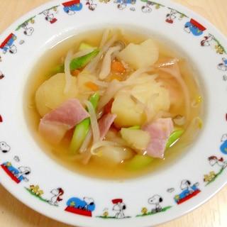 ベーコンと野菜のコンソメスープ