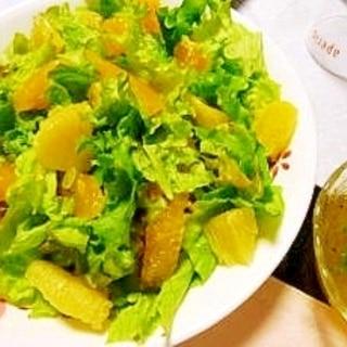 オレンジとレタスのさわやかサラダ