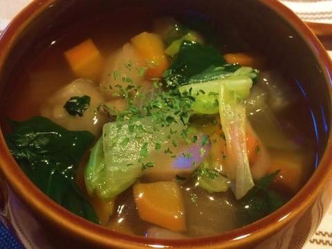 具沢山♪できる野菜だしを使ったスープ