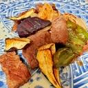 ハラミと夏野菜のグリル