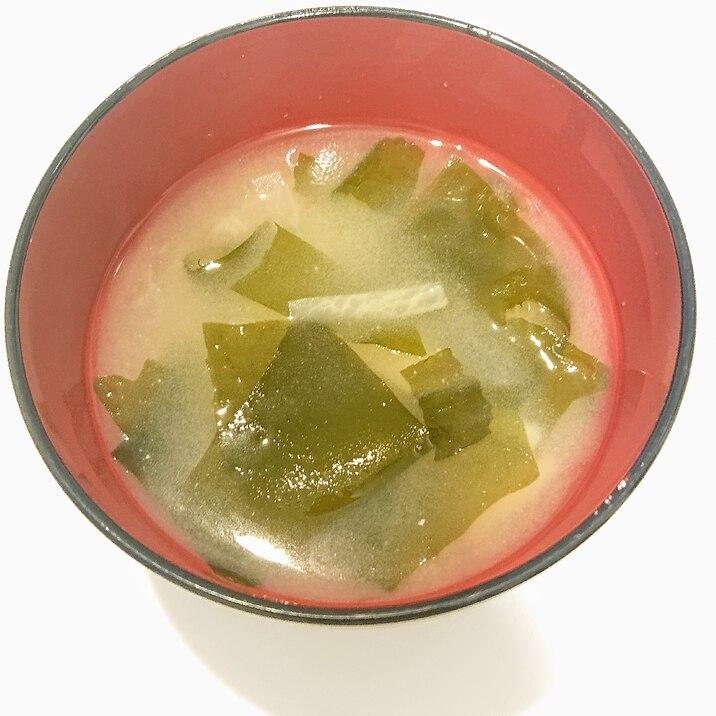 大根とわかめのお味噌汁