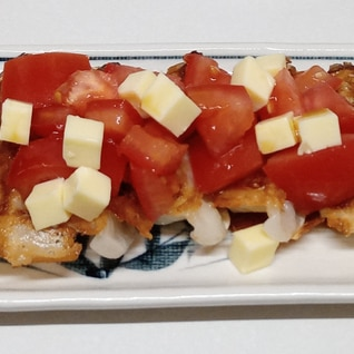 トマトチーズのせ餃子