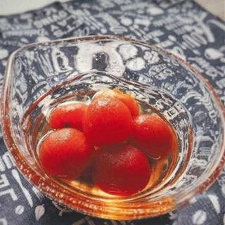 ミニトマトのらっきょ酢漬け