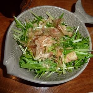 ごぼうとちくわ、水菜のきんぴらサラダ