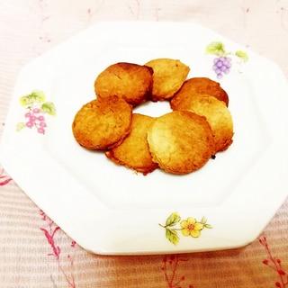 バナナチップス入り♪米粉のクッキー