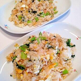 小松菜と明太子炒飯