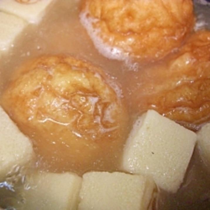 高野豆腐としんじょうあげの煮物