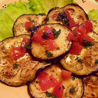 薄焼き茄子のイタリアンマリネ