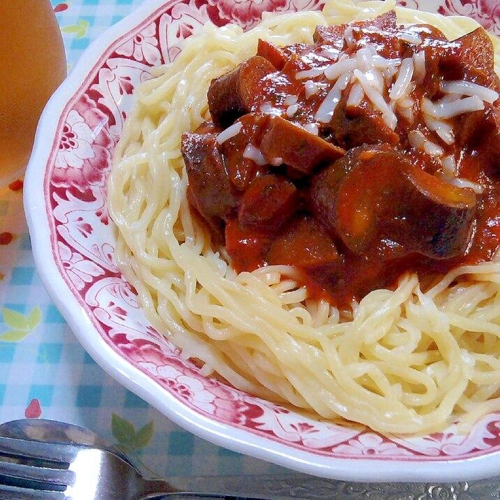 『頂 塩味』で作る☆茄子と紫蘇のチースパ