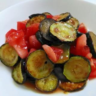 夏野菜たっぷり☆ズッキーニとなすのトマトマリネ
