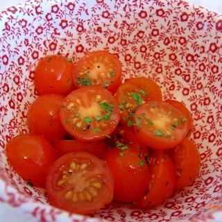 プチトマトの簡単洋風マリネ