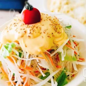 びっくりドンキー風マヨネーズのディッシュサラダ
