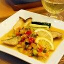 白身魚のカラフルレモンソースソテー