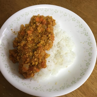 ベジタリアン 高野豆腐のキーマカレー