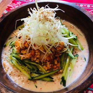 即席乾麺アレンジ⭐野菜も取れるタンタン麺風