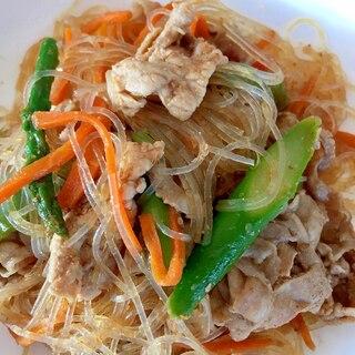 焼肉のたれ+甜麺醤で簡単!豚肉チャプチェ