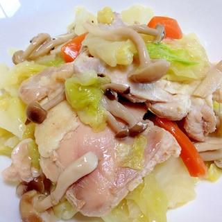野菜がとろとろ☆鶏肉とキャベツのコンソメ煮