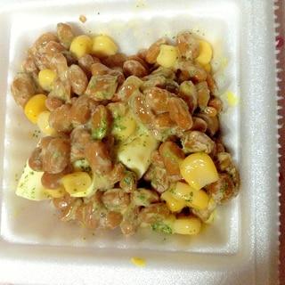 コーンチーズ納豆