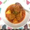 白菜包み肉団子 トマトスープ