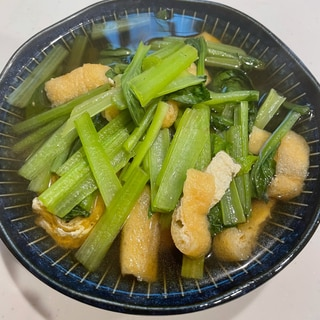 出汁うま〜⭐小松菜と油揚げの含め煮