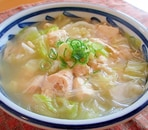 豆腐とささみのあっさり春雨スープ