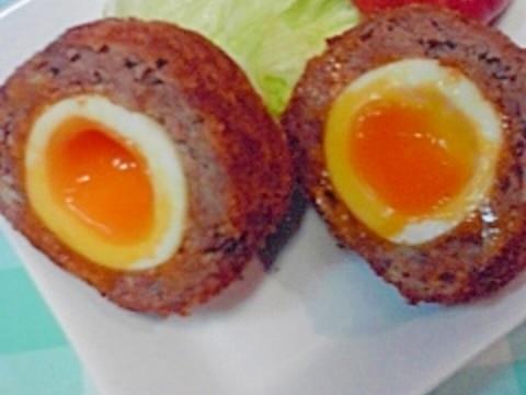 め以子のとろとろ卵のスコッチエッグに挑戦してみたよ