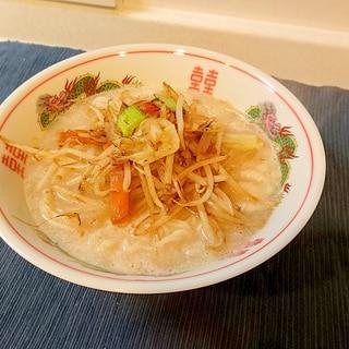うまかっちゃんLOVE企画1:野菜炒めラーメン