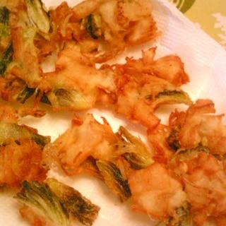 天ぷら(茗荷、ほたて風味かまぼこ)