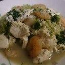 ブロッコリーとむきえびの塩煮