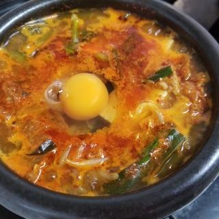 韓国本場の味☆卵入りチゲ