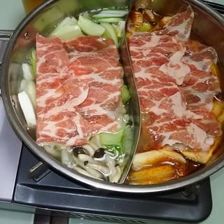 赤白 2色スープ火鍋!絶品