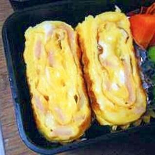 ハムとモッツァレラチーズの卵焼き