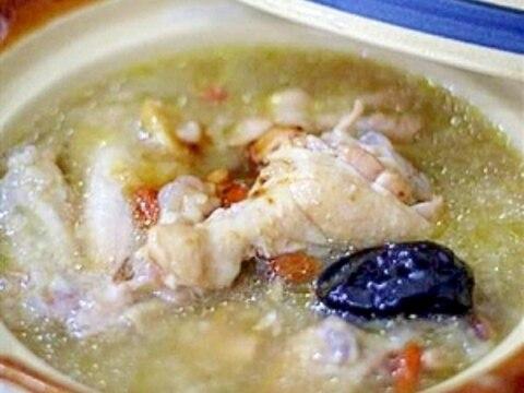 圧力鍋でお手軽サムゲタン(参鶏湯)
