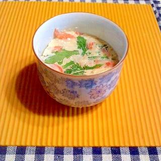 レンジの中華風豆腐茶碗蒸し♪
