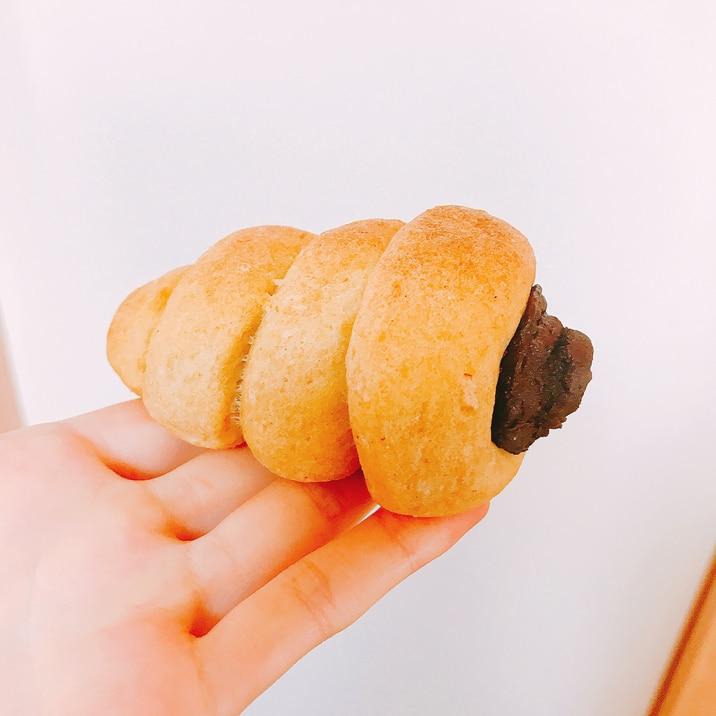 【糖質制限】濃厚♡チョココロネおからぱん