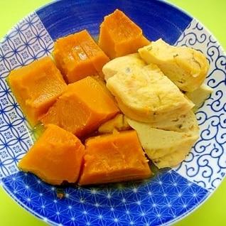「作り置き」かぼちゃとがんもどきの白だし煮