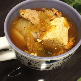 具材たっぷり*チゲ鍋風スープ