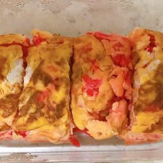 材料3つ♪ 紅生姜の卵焼き