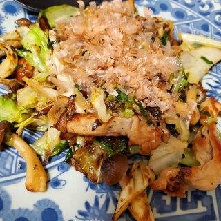 春キャベツと豚肉の塩コショウ炒め