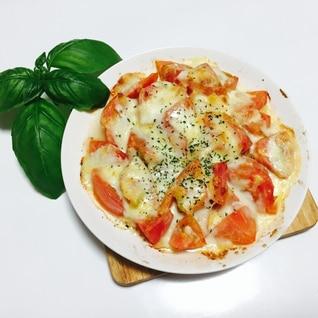 トマトのチーズ焼き〜生バジルと