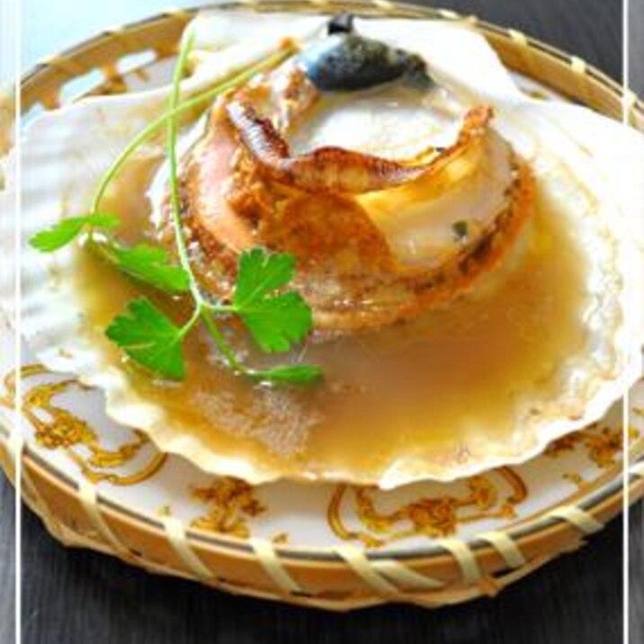 活ホタテのグリル!醤油バター風味☆