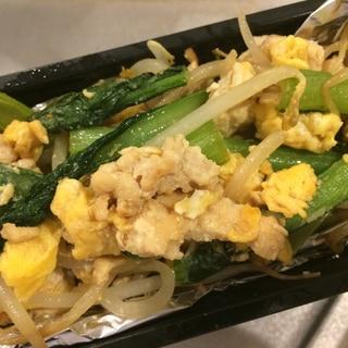 小松菜ともやしと卵の中華風