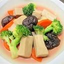 高野豆腐.椎茸・人参・ブロッコリーの白だし煮