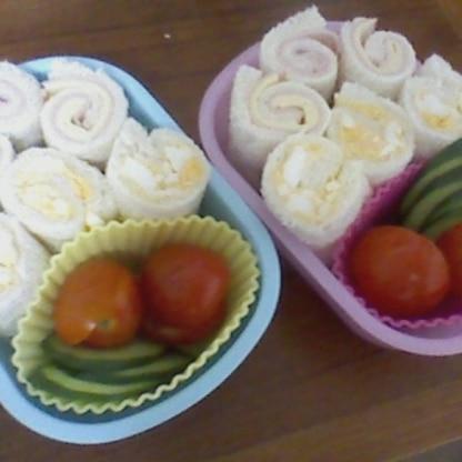 今日のお弁当に参考にさせてもらいました(^^)子どもたちが喜んで持っていきました♪ありがとうございます。