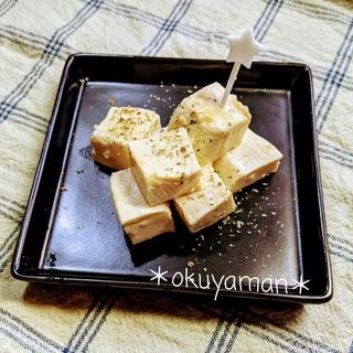 豆腐を酒粕味噌漬け