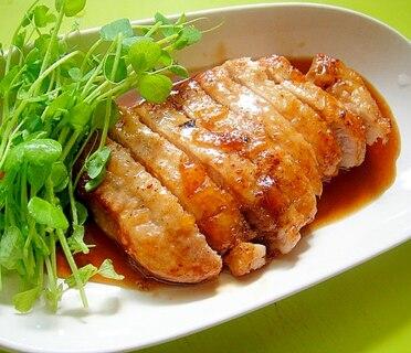 マーマレード醤油ポークソテー