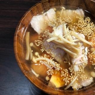 豚バラとトマトの中華スープ